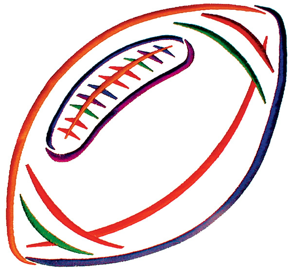 Outline Football - ClipArt Best