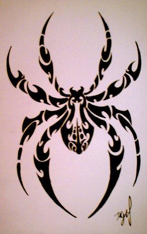 tribal spider clipart best. Black Bedroom Furniture Sets. Home Design Ideas