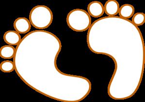 Baby Footprints Outline clip art - vector clip art online, royalty ...