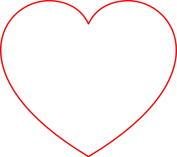 Red Outline Heart clip art - vector clip art online, royalty free ...