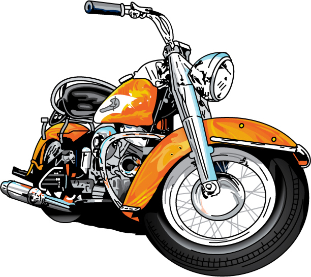 Vectored Harley Davidson Motorcycle - ClipArt Best