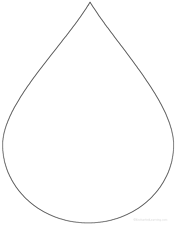 water drop template