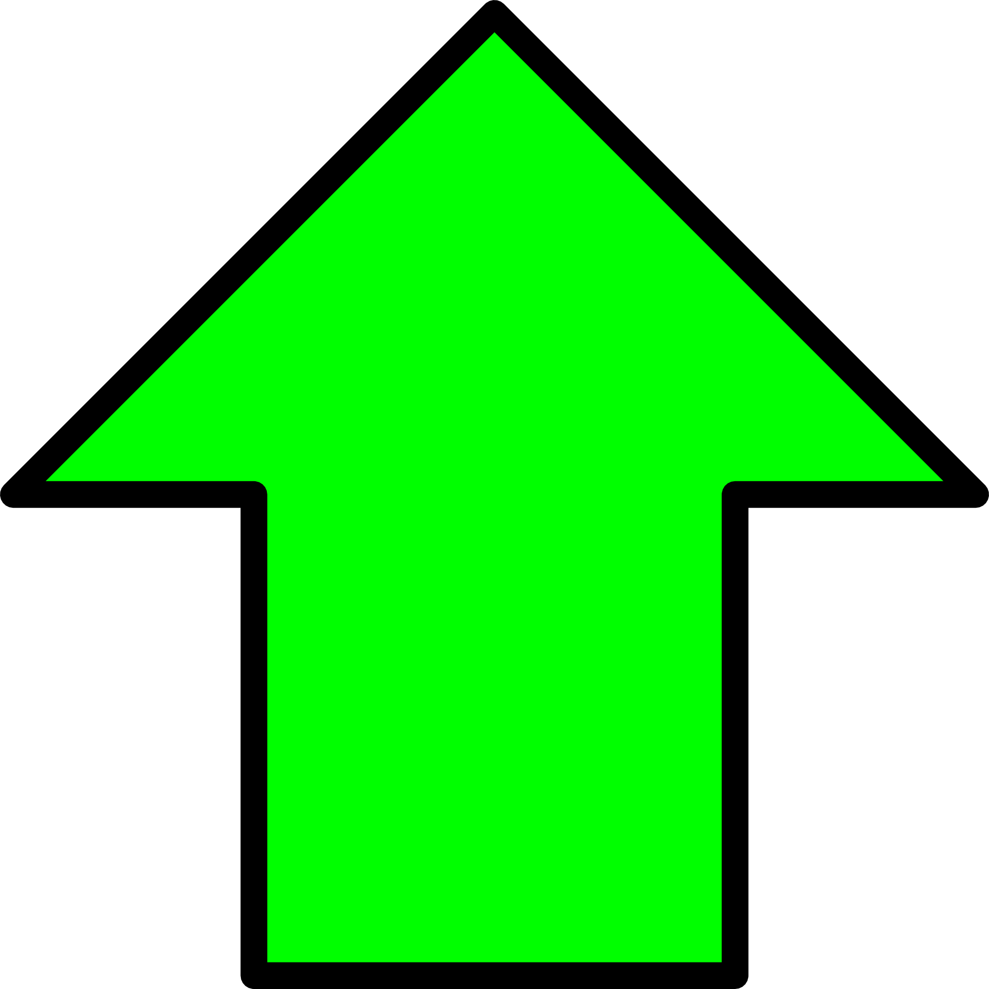 free clipart arrow pointing up - photo #25