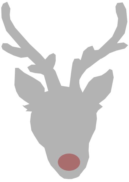Reindeer Outline - ClipArt Best