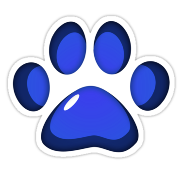Blue panther paw