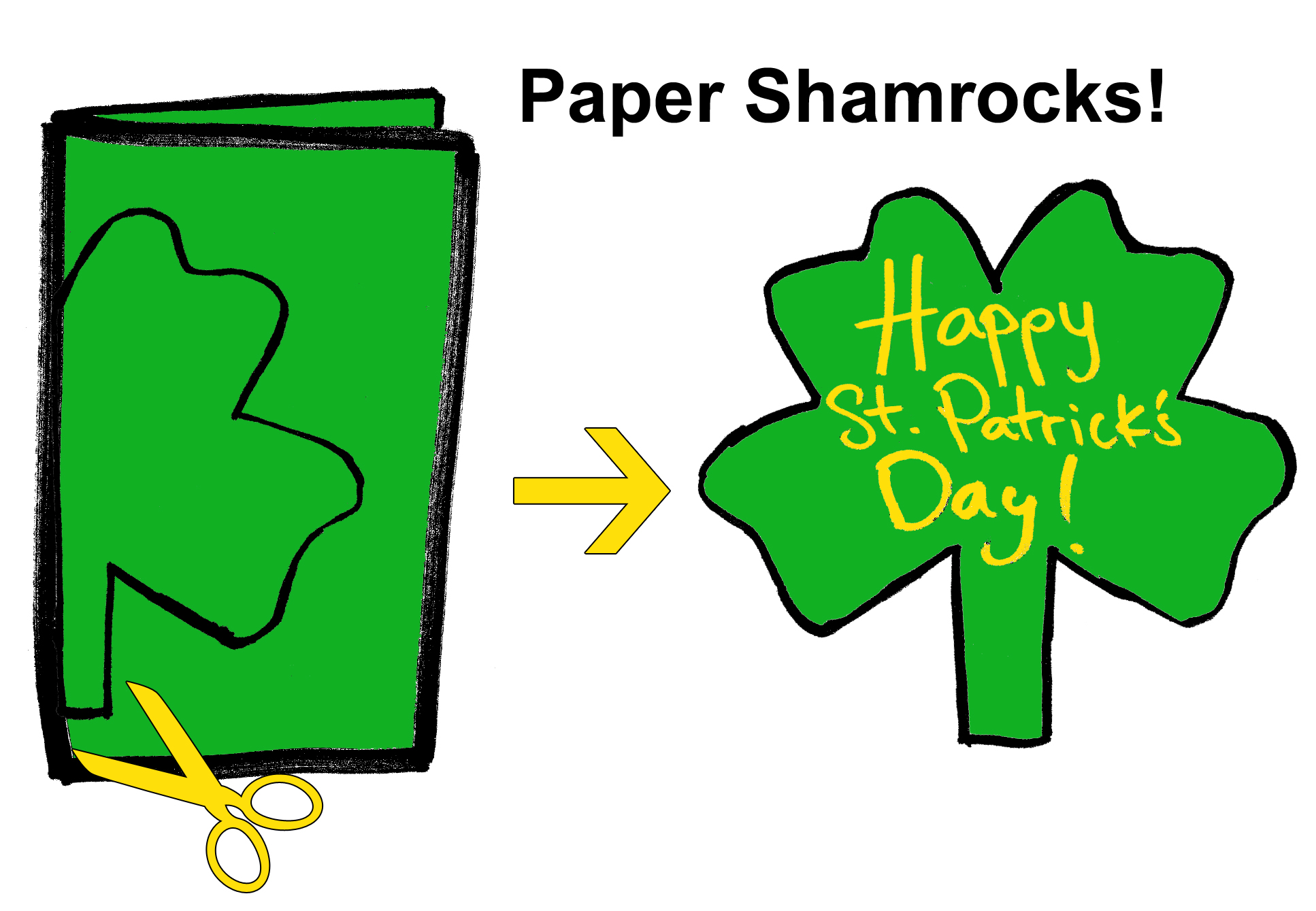 how to make a four leaf clover out of paper