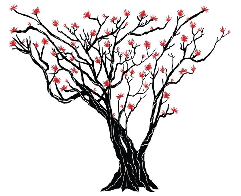 Drawing of tree on wall clipart best for Best tree drawing