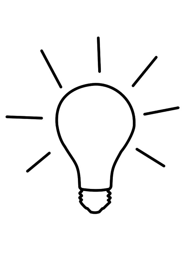 Idea Light Bulb Coloring Pages - Download & Print Online Coloring ...