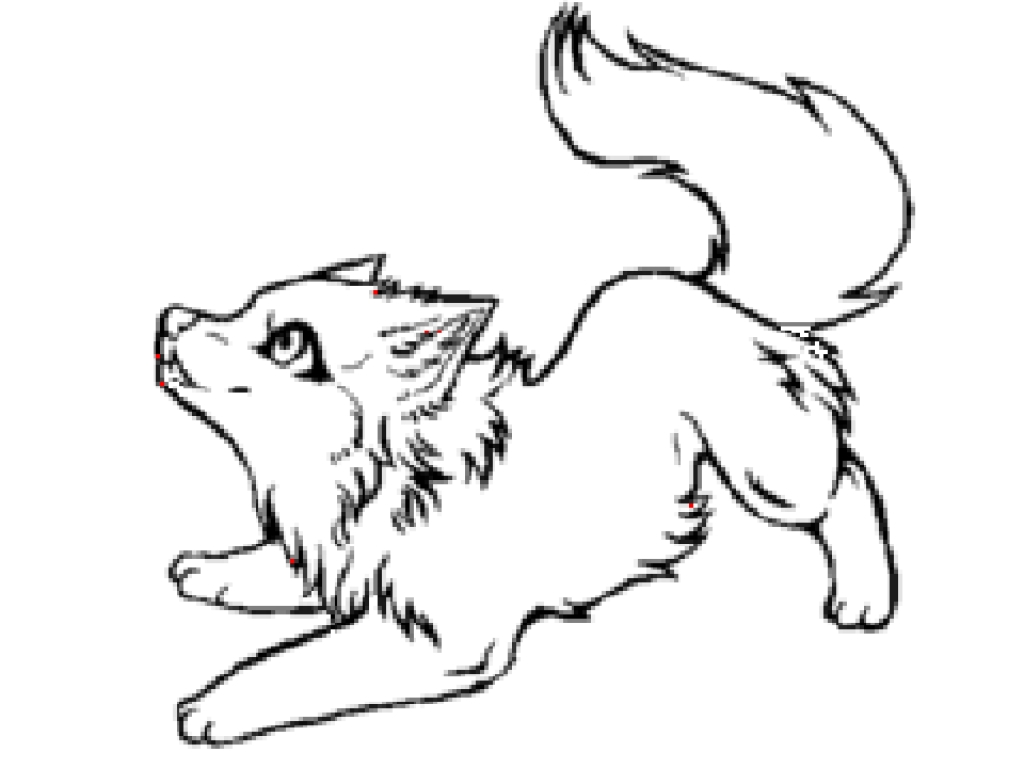 Chibi Wolf Coloring Page
