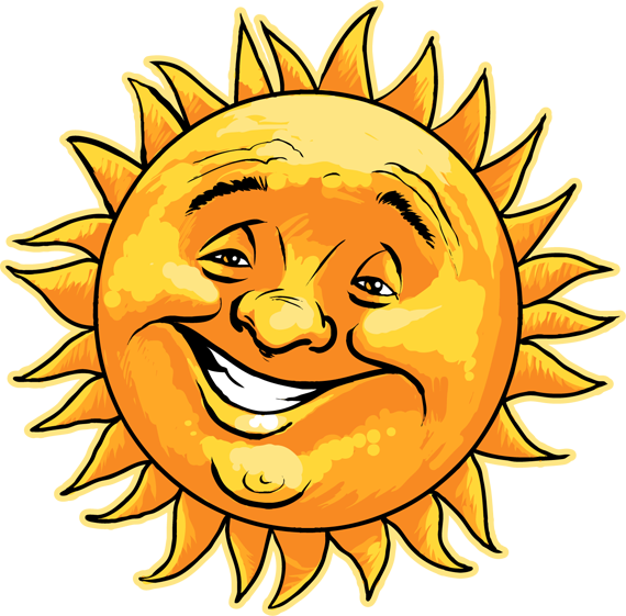 Line Drawing Happy Face : Cartoon sun and the earth clipart best