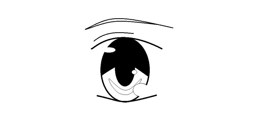 Line Art Eyes : Anime eye line art by avatarvocaloidfreak on deviantart