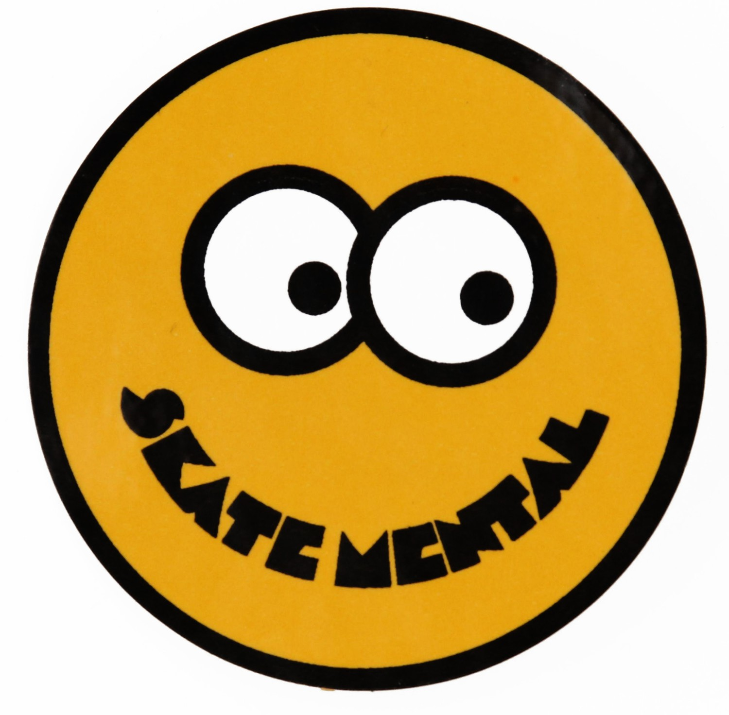"Skate Mental Smiley Face 2.5"" Sticker - yellow - Skate Shop ..."