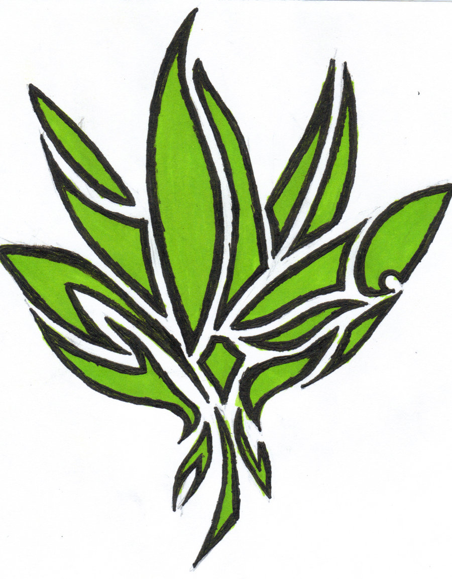 Weed Leaf Outline - ClipArt Best