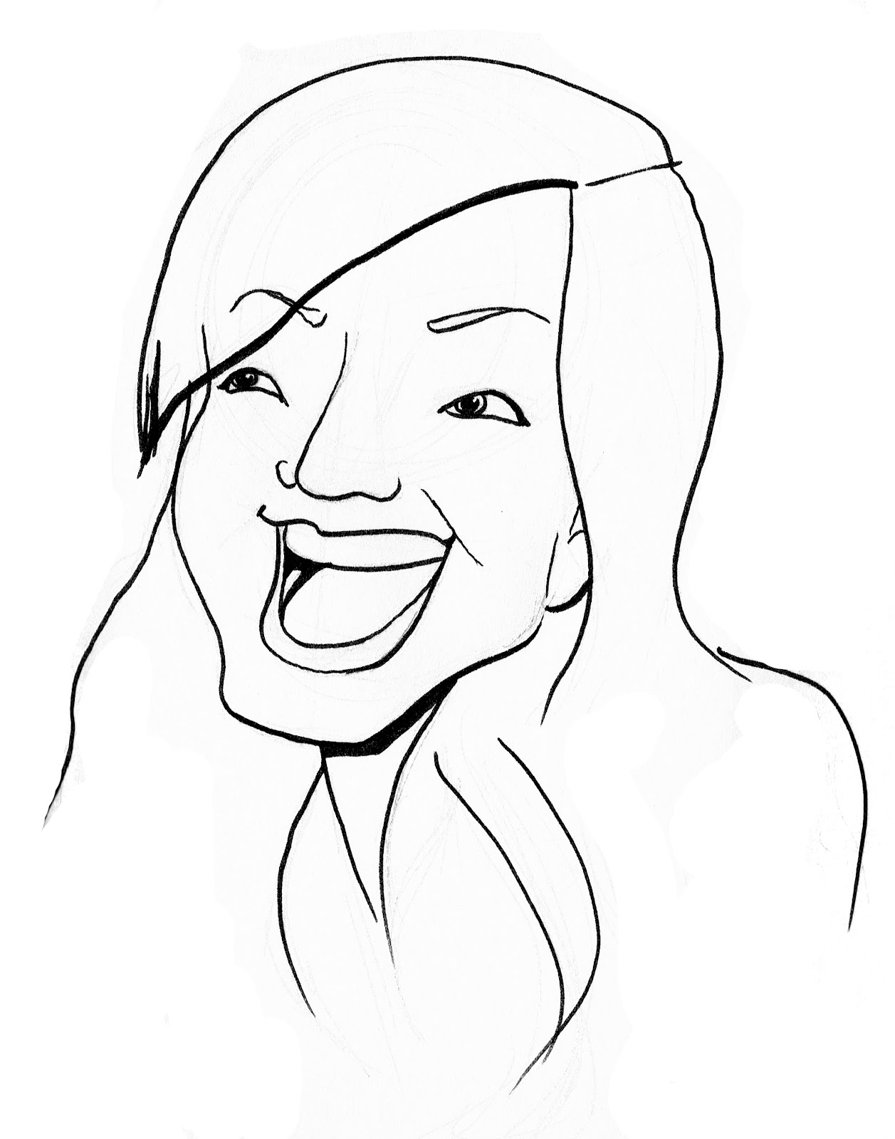 Line Art Person : Line drawing of people clipart best