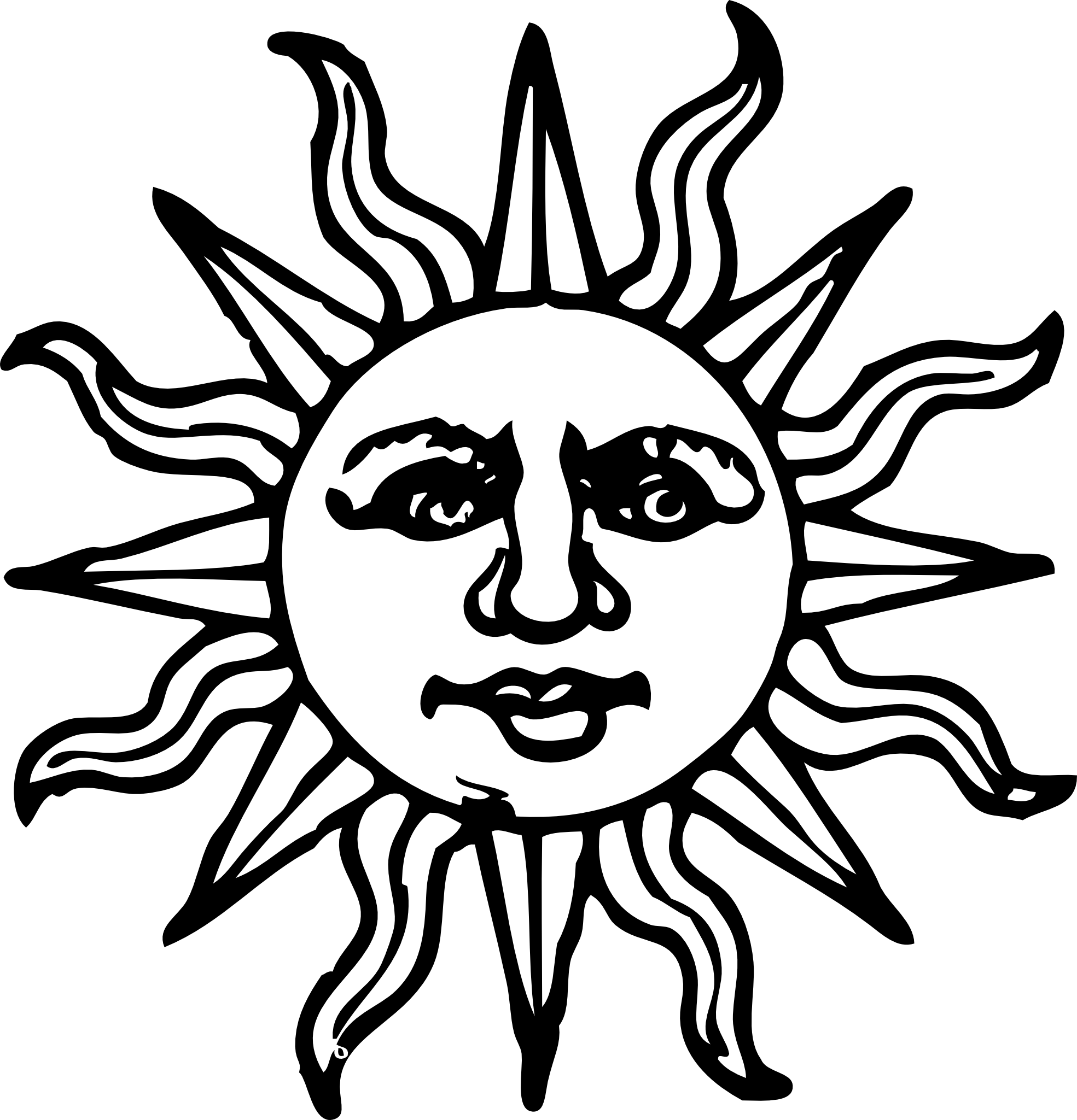 Line Art Sun : Sun clipart black and white best