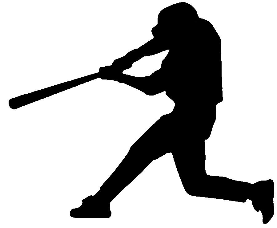 Baseball Player Art Baseball Player Silhouette