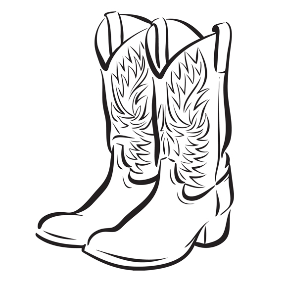 images of cowboy boots clipart best
