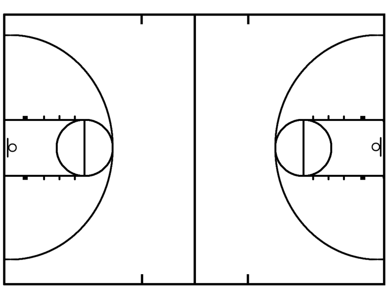 printable full court basketball diagrams