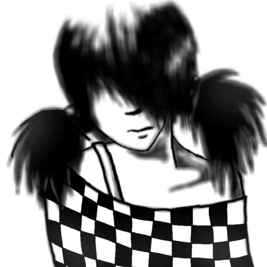 Emo Girl Drawing Emo Girl
