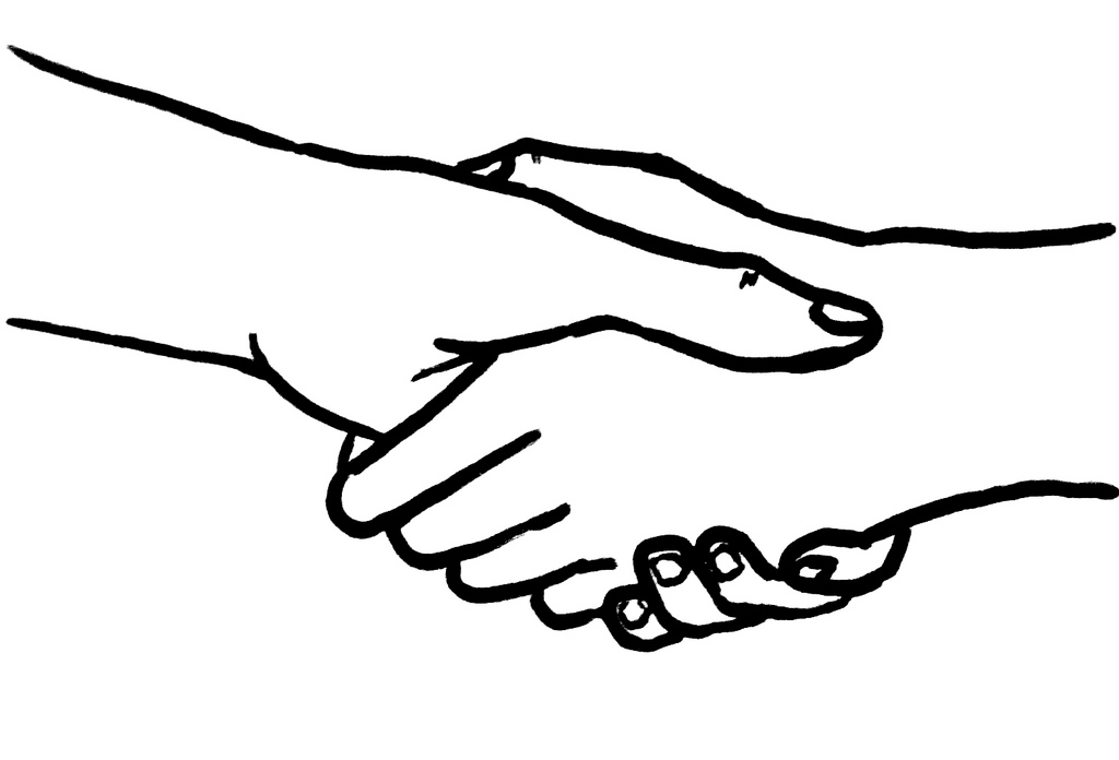 Hand Shake Drawing - ClipArt Best