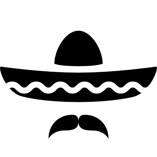 Sombrero Clip Art Black And White - ClipArt Best