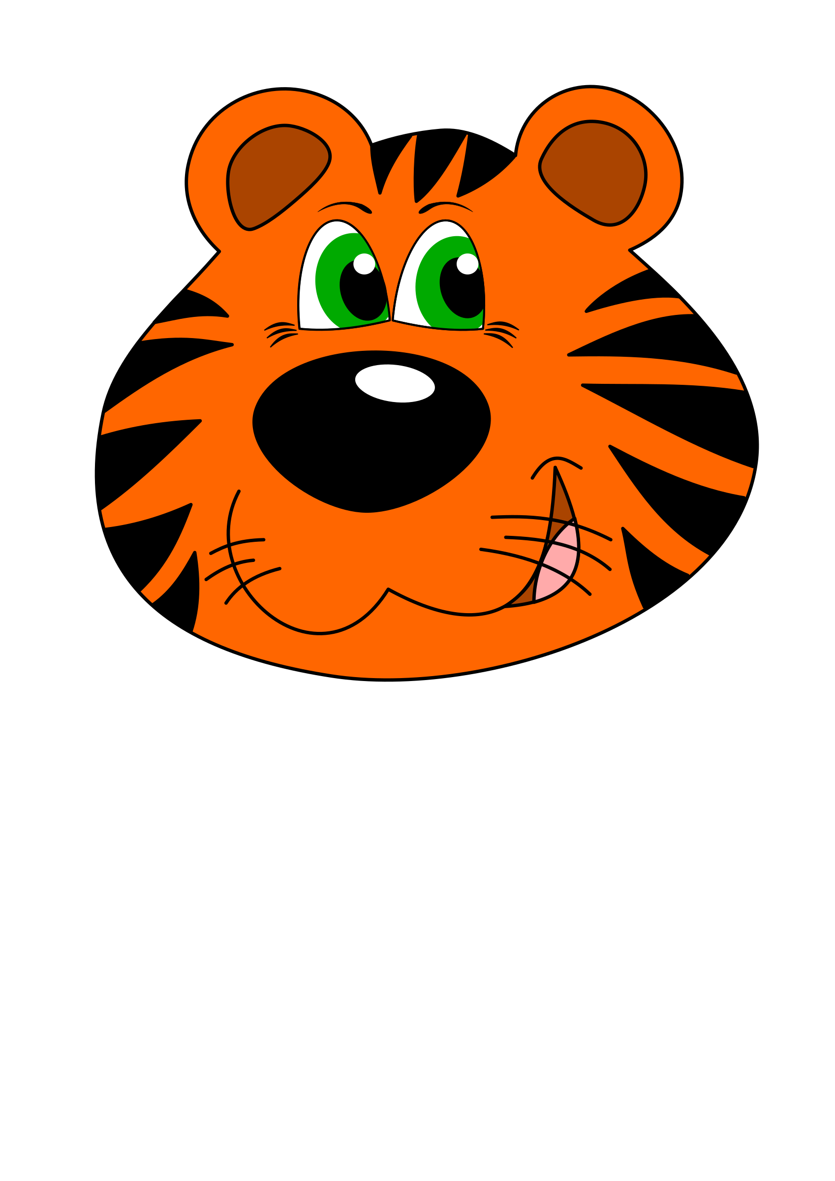 Picture Of A Cartoon Tiger - ClipArt Best
