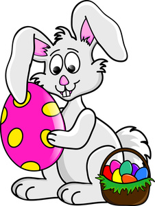 Easter Bunny With Basket Clip Art - ClipArt Best