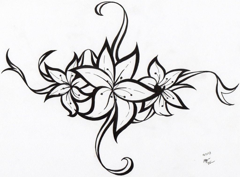 Gambar Tato Flower Clipart Best