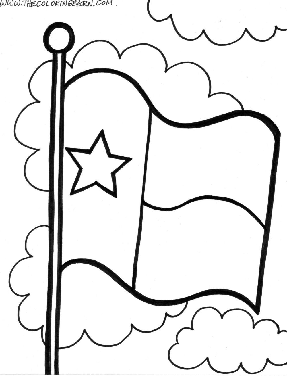 texas symbols coloring pages - photo#35