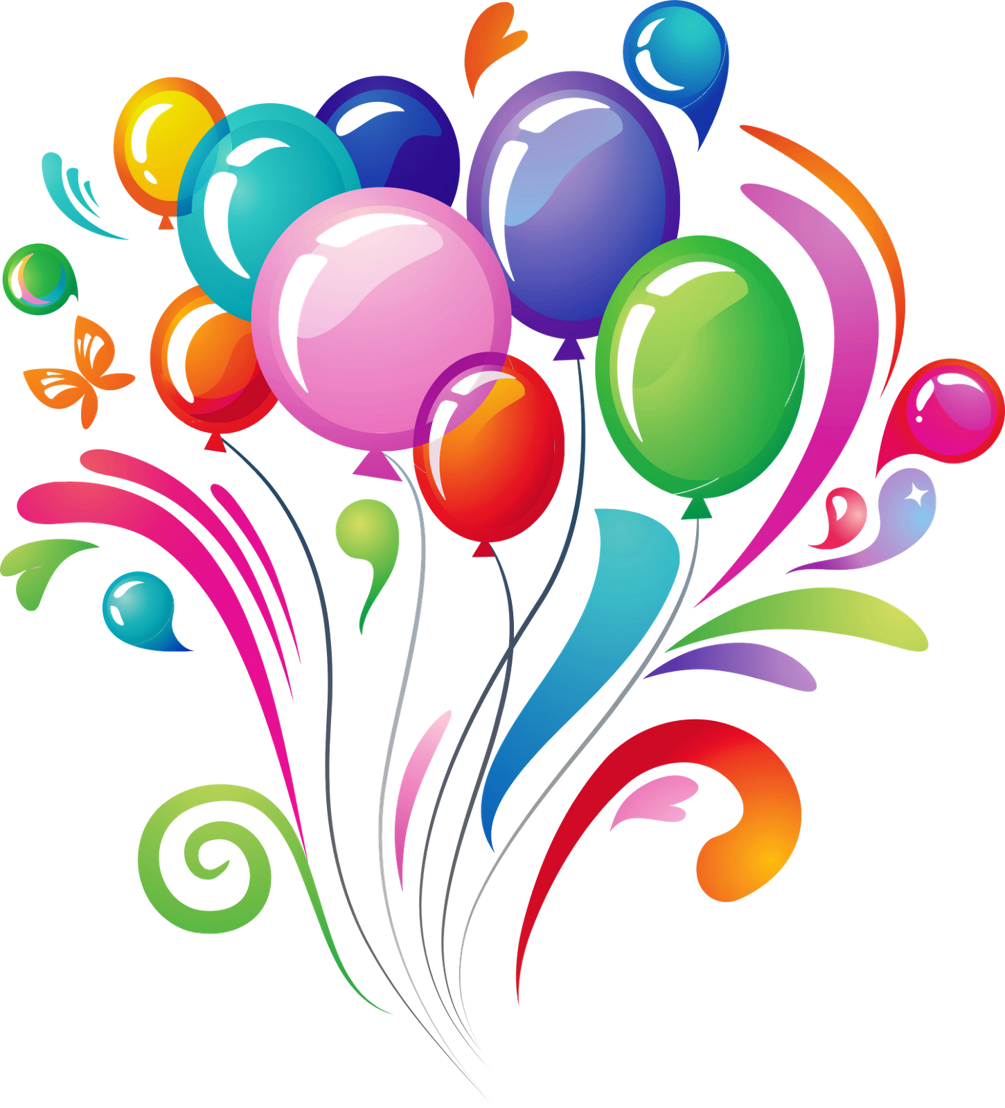 Free Birthday Balloon Images ~ Happy birthday balloons png clipart best