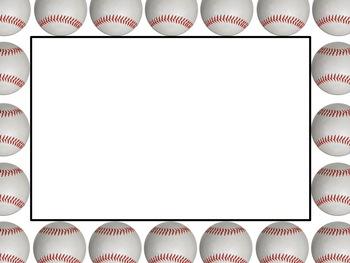 Baseball page border clipart best - Free Baseball Border Clipart Best