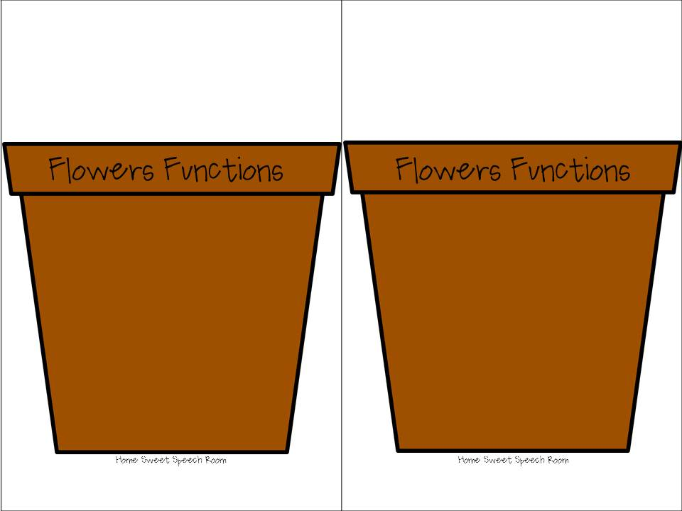 It is a picture of Slobbery Flower Pot Printable