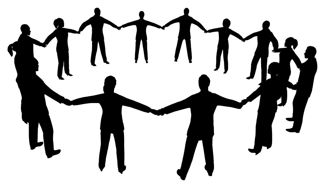 Black And White Clipart Of People Helping - ClipArt Best