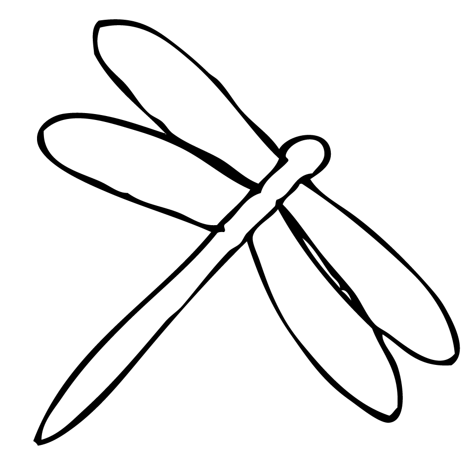 Dragonfly drawing template - photo#12