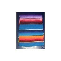 Saltillo Serape Mexican Blanket Hot Rod Seat Cover BLUE