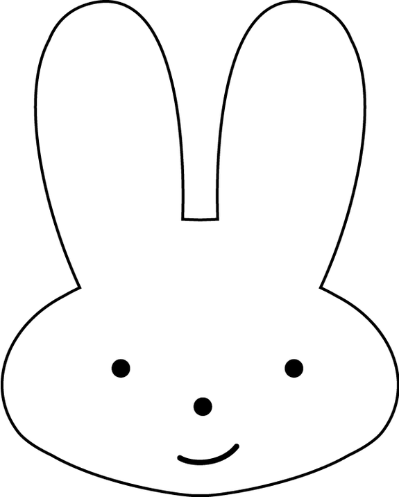 Bunny Head Outline ClipArt Best