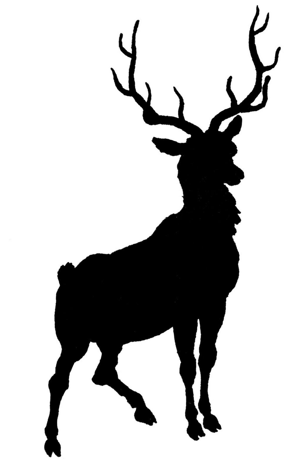 free deer head silhouette clip art - photo #32