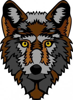 Stylized Wolf Head clip art Vector clip art - Free vector for free ...