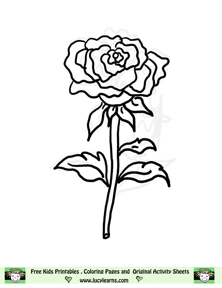 Simplicity image regarding printable rose template