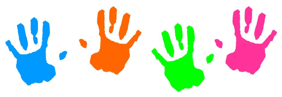 Handprints For Kids Ki...