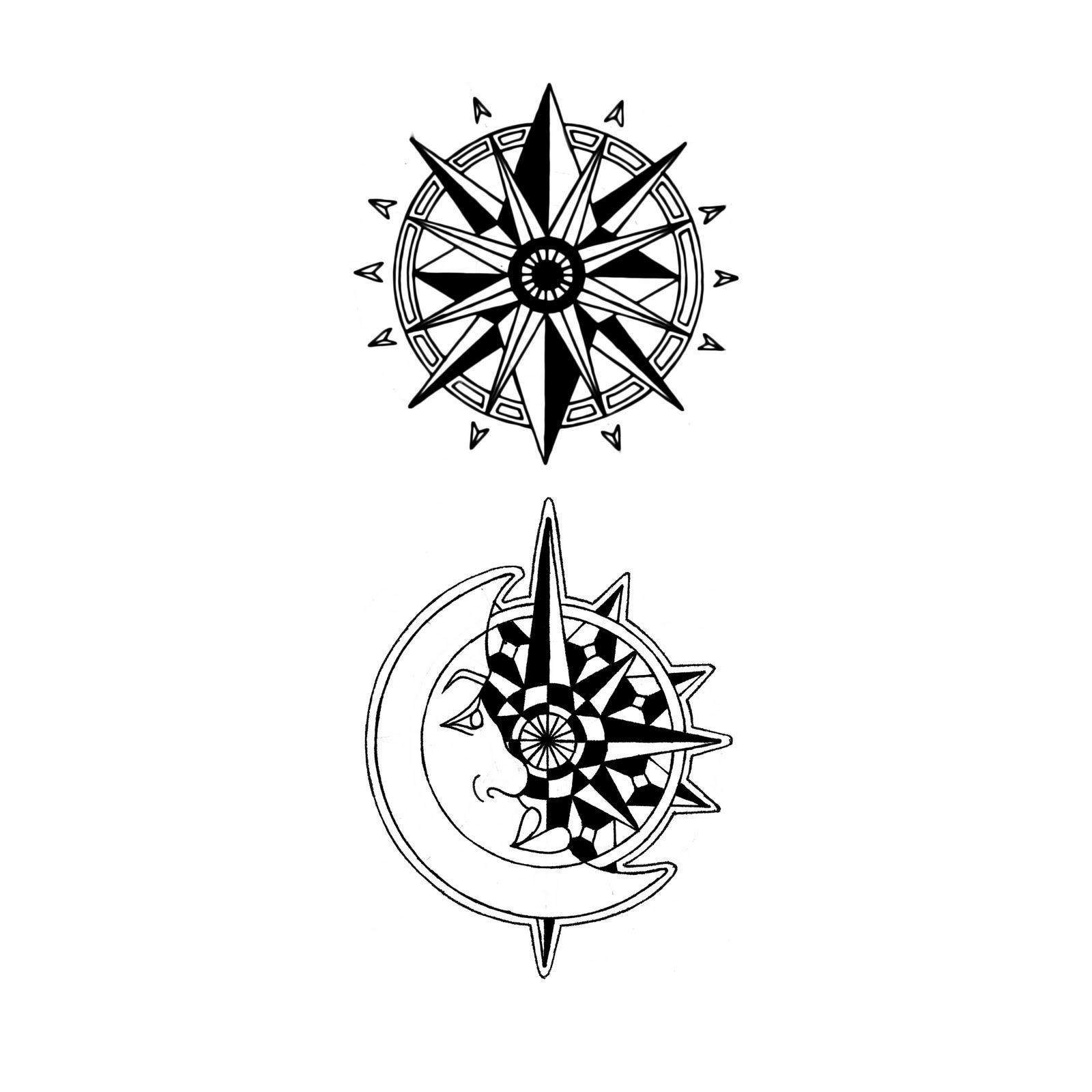 Compass Rose Tattoo Designs Clipart Best