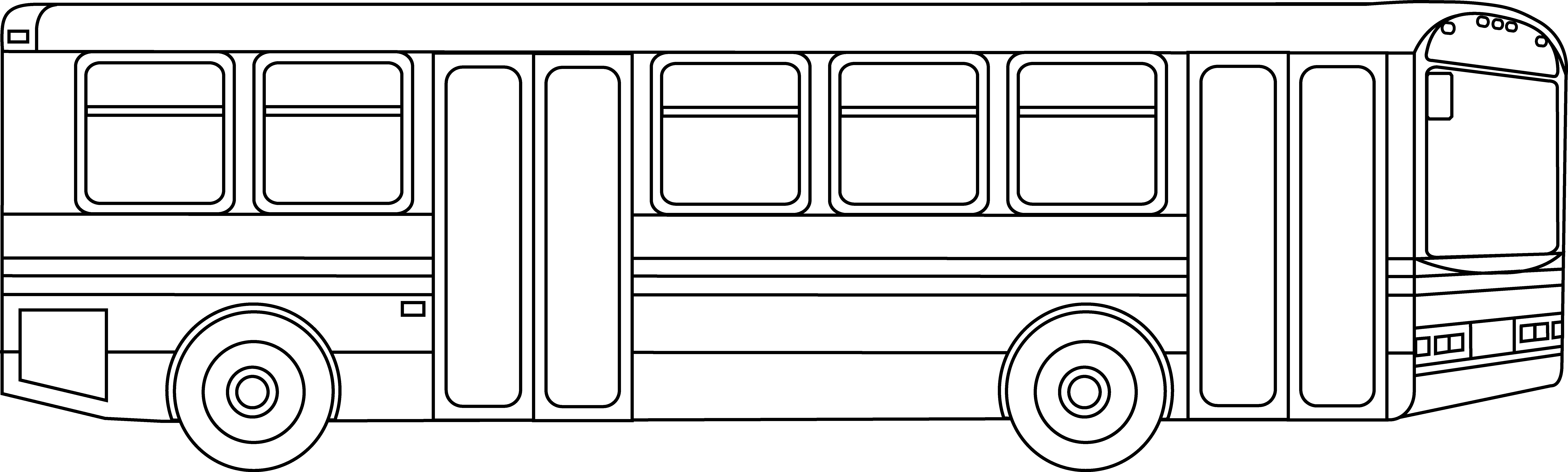 Line Drawing Bus : Outline of bus clipart best