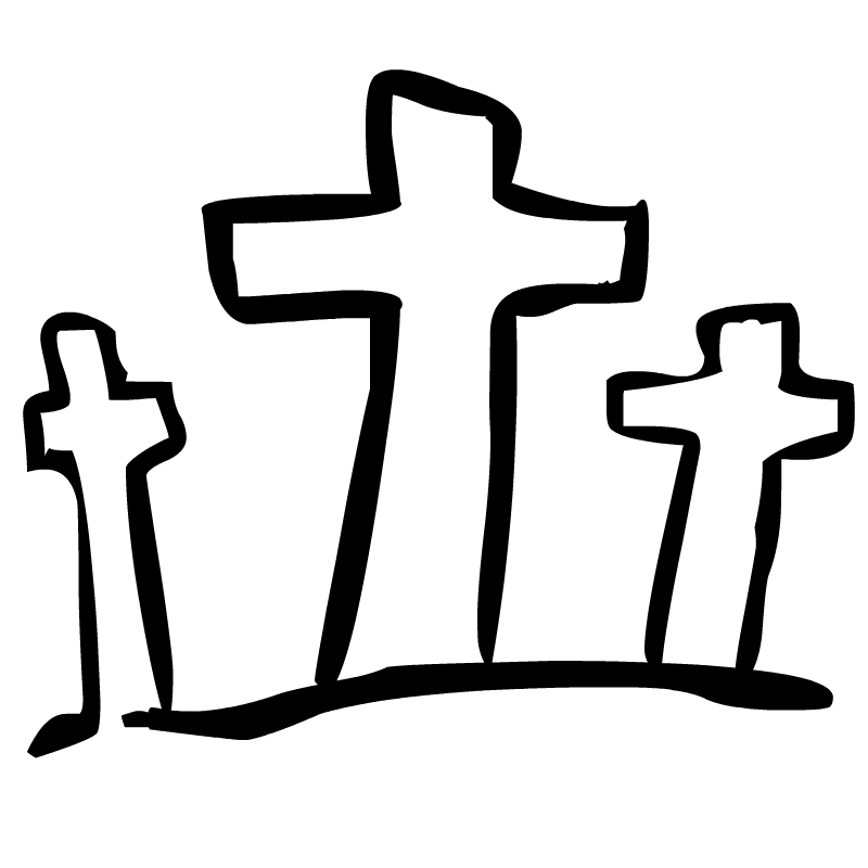 Free Black And White Religious Easter Clip Art - ClipArt Best