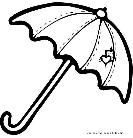 umbrella coloring pages | Umbrella Pictures To Color - ClipArt Best