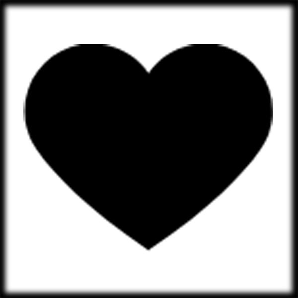 free black heart clipart - photo #41