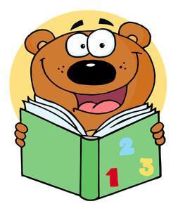 cartoon child reading   clipart best