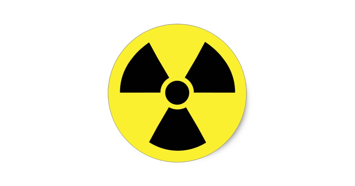 Radioactive Nuclear Hazard Symbol Classic Round Sticker | Zazzle