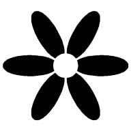 Simple Flower Stencil Clipart Best