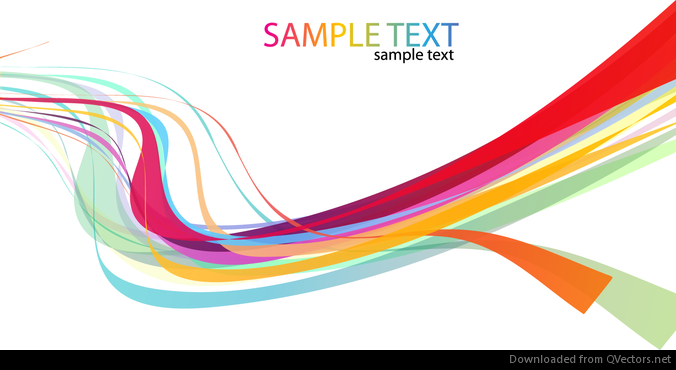 Abstract Rainbow Wave Line Vector Background - Vector download