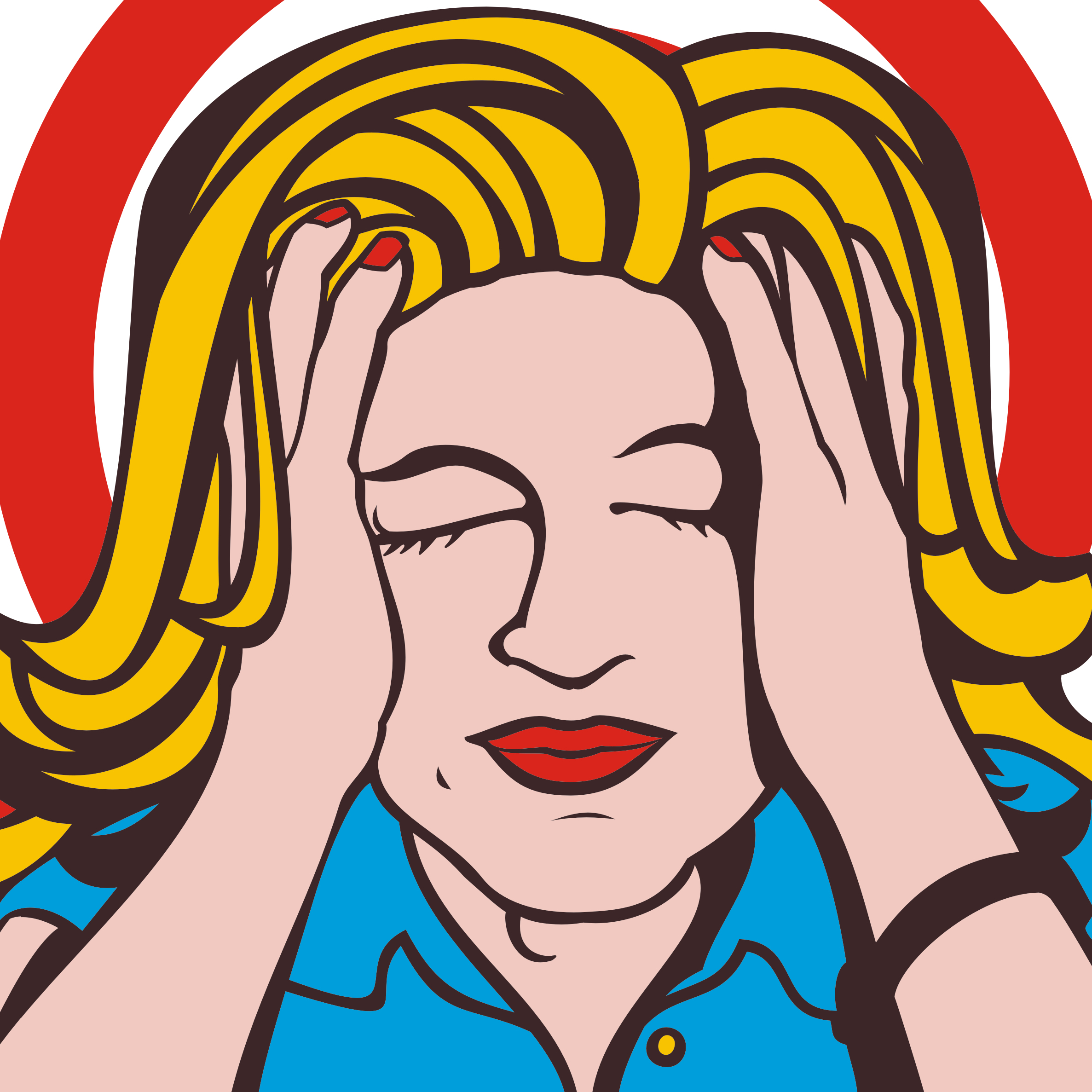 Stressed Out Woman Clipart
